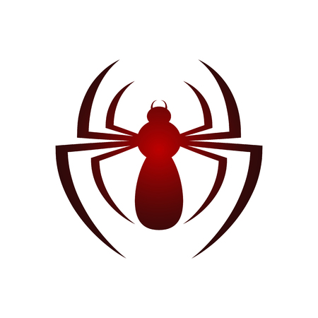 Spider icon isolated on white background. Vector illustration. Spider icon in flat design.
