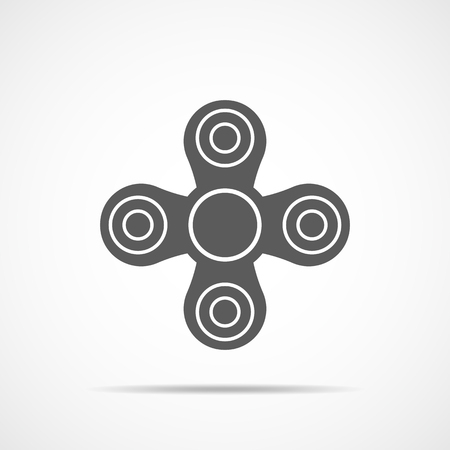 Hand spinner icon, isolated on white background. Vector illustration. Spinner stress relieving toy.