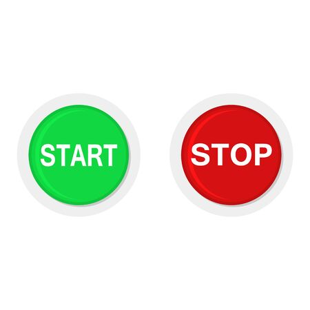 START and STOP round icons