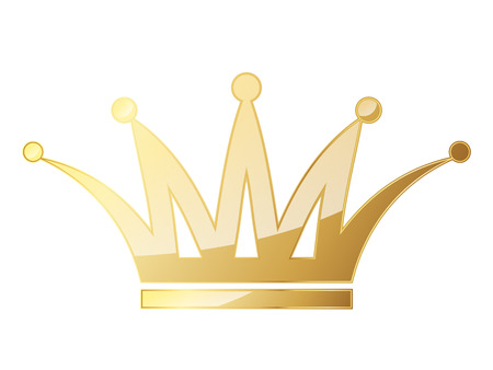 Golden crown icon. Vector illustration. Golden crown symbol isolated on white background. Illustration