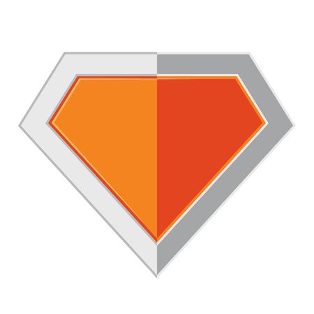 Bright superhero color logo on white background. Vector illustration.. Superhero logo in flat design Illustration