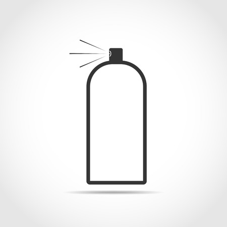 Spray icon in flat design. Vector illustration. Black spray icon on light background.