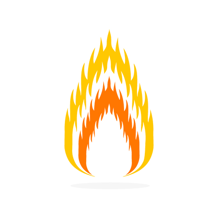Fire flat icon. Vector illustration.