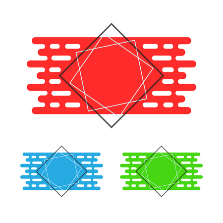 Set of abstract colored banners in flat design. Vector illustration. Modern geometric template