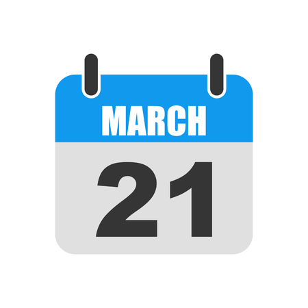 Calendar of World Down Syndrome day vector illustration. Calendar for March 21 in flat design.