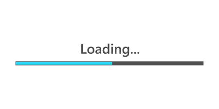 Loading bar element icon. Vector illustration. Download sign in flat design, isolated. Illustration