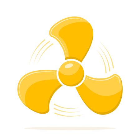 Yellow fan elisi icon Illustration