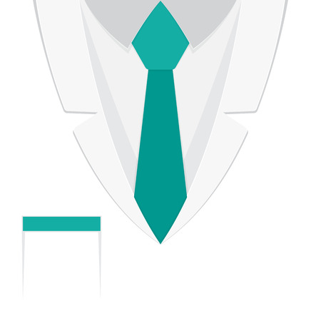 A doctors suit or lab coat in flat design. Vector illustration.