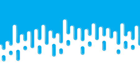 Blue background with rounded lines in flat design. Vector illustration. Abstract geometric background