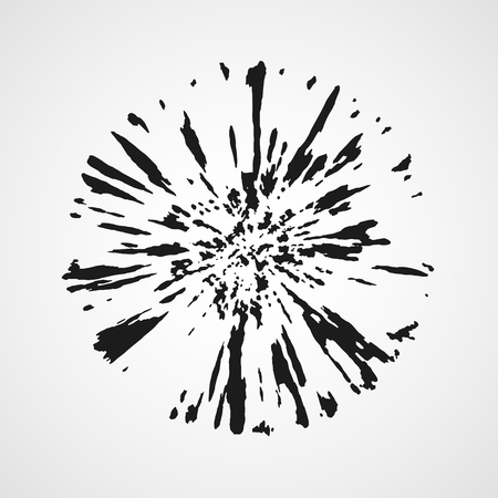 Grunge circle banner. Vector illustration. Grunge round shape isolated. Illustration