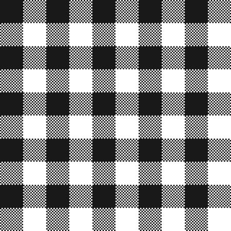 Schwarzweiss-Stoffbeschaffenheit. Vektorillustration. Flaches Tischtuchmuster.