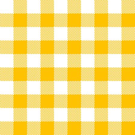 Yellow fabric texture. Vector illustration. Flat tablecloth pattern