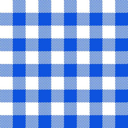 Blaue Stoffstruktur. Vektorillustration. Flaches Tischtuchmuster