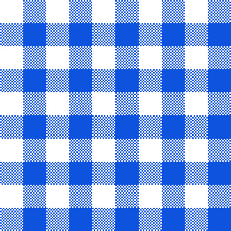 Blue fabric texture. Vector illustration. Flat tablecloth pattern