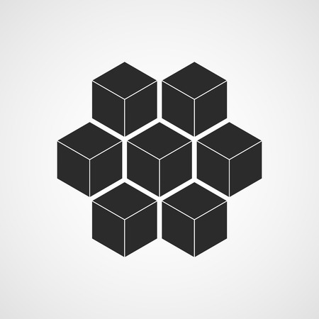 Honeycomb icon. Vector illustration. Flat honeycomb icon isolated Banque d'images - 107748277