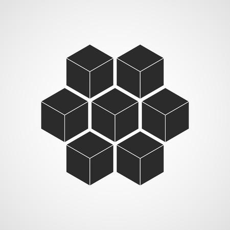 Honeycomb icon. Vector illustration. Flat honeycomb icon isolated