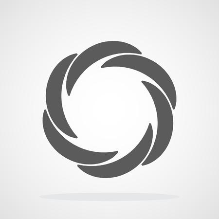 Icono de enfoque. Ilustración vectorial. Icono de diafragma de apertura. Icono de cámara aislado
