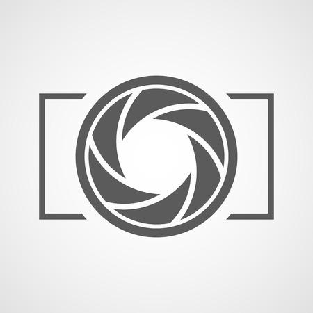 Focus icon. Vector illustration. Aperture diaphragm icon. Camera icon isolated Vecteurs