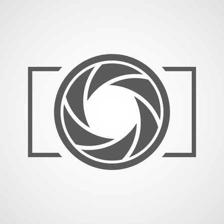 Fokus-Symbol. Vektorillustration. Blendenmembransymbol. Kamerasymbol isoliert Vektorgrafik