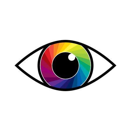 Eye icon. Vector illustration. Symbol of Eye in flat design Ilustração Vetorial