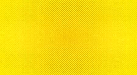 Pop Art background. Retro dotted background. Vector illustration. Halftone yellow pop art pattern. Çizim