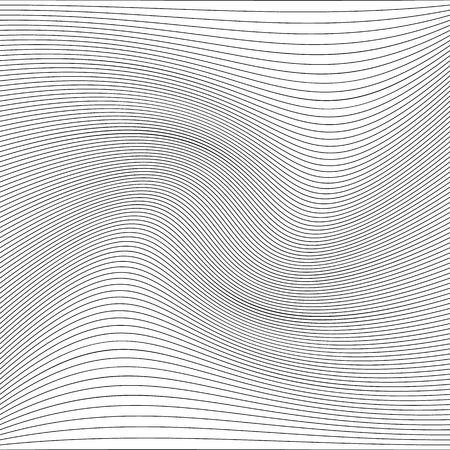 Abstract pattern with wavy lines. Vector illustration. Monochrome background