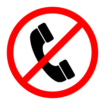 No Phone Sign. Vector illustration. No handset allowed sign. Telephone not allow