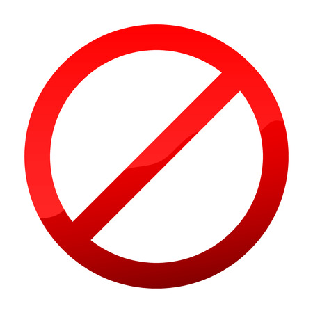 Red Not Allowed sign. Vector illustration. Alert, Stop or Warning sign, isolated. Not allowed sign