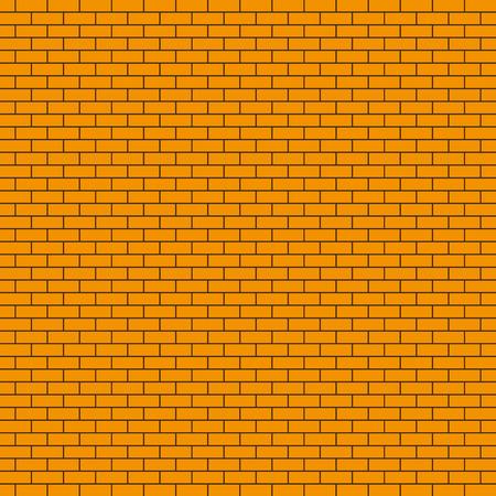 Red brick wall texture. Vector illustration. Brick wall background Illustration
