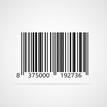 Realistic barcode icon. Vector illustration. Black barcode icon isolated