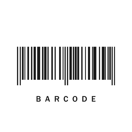 Barcode icon. Vector illustration. Black barcode icon isolated