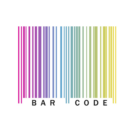 Barcode icon. Vector illustration. Colorful barcode icon isolated