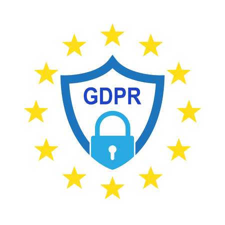 General Data Protection Regulation (GDPR). Vector illustration. GDPR symbol isolated
