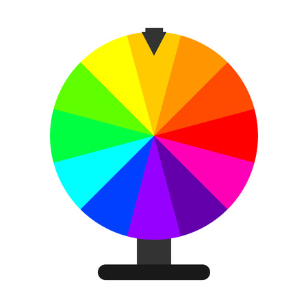 Wheel of Fortune in flat design. Vector Illustration. Lottery icon isolated