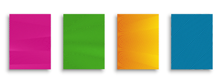 Modern cover design with colorful halftone gradients. Vector illustration. Minimal covers design. Trendy futuristic design