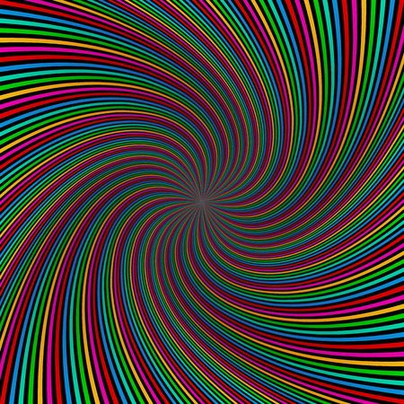 Colorful swirl background. Vector illustration. Abstract swirling radial pattern