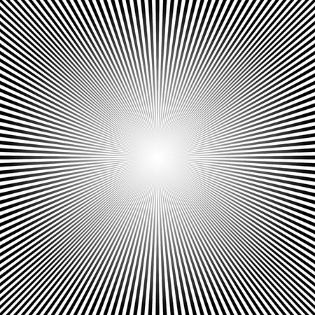 Abstract sun rays background. Vector illustration. Black and white background with sun rays 向量圖像