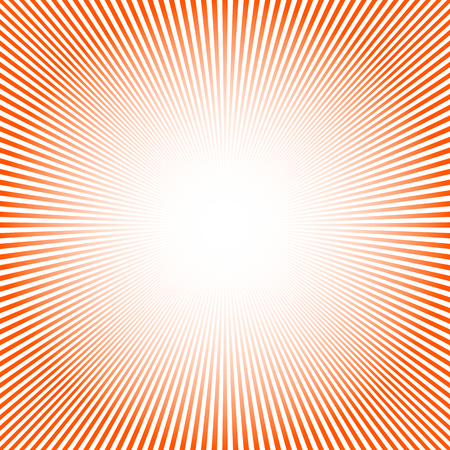 Abstract sun rays background. Vector illustration. Red background with sun rays