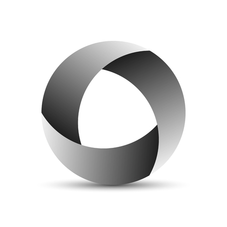 Abstract circle logo. Vector illustration. Geometric round frame