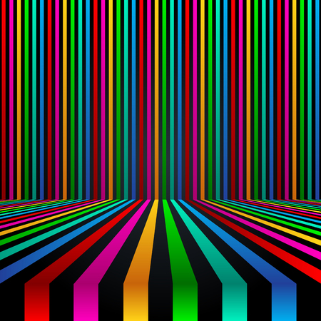 Abstract linear background. Vector illustration. Colorful background
