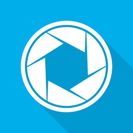 Focus icon. Vector illustration. Aperture diaphragm icon. Camera icon isolated
