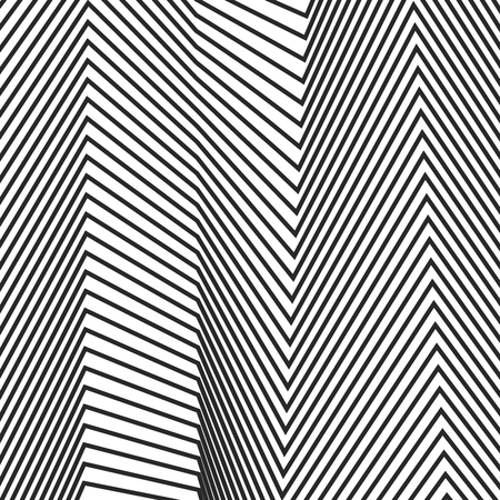 Abstract linear pattern. Vector illustration. Background with black lines