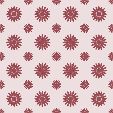 Seamless floral pattern with chamomile. Vector illustration. Color flower in flat style.