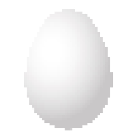 Pixel art design of a Egg. Vector illustration. Abstract Egg icon in pixel style isolated