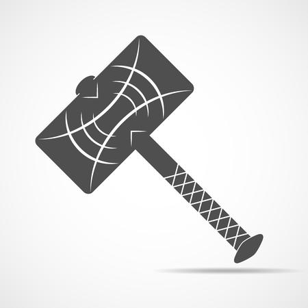 Thor Hammer icon. Vector illustration