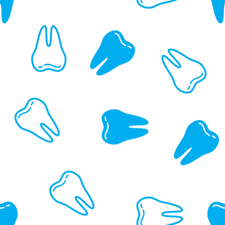 Seamless background with Teeth. Vector illustration. Abstract Teeth pattern. Illustration