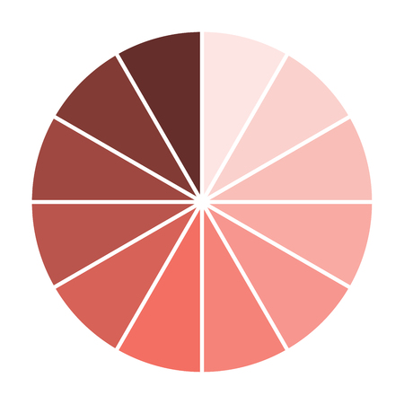Swatch with trendy color - Living Coral. Vector illustration. Living Coral - trendy color of 2019 year.