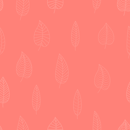 Seamless geometric pink banner. Vector illustration. Living Coral - trendy color 2019 year.