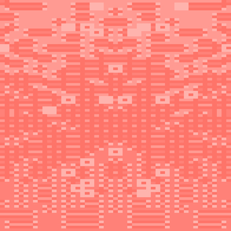 Abstract square pixel art background. Mosaic background. Vector illustration. Living Coral - trendy color 2019 year. Illustration
