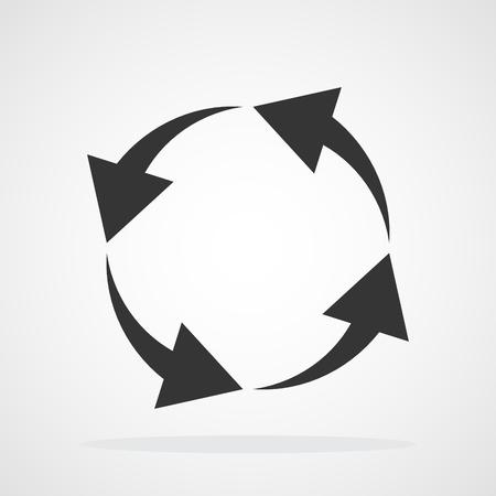 Flat circular arrow. Vector illustration. Refresh or reload symbol.